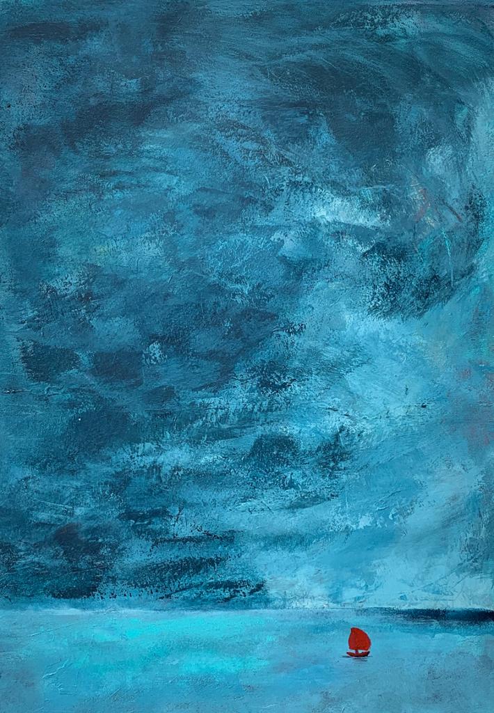 """""""Ensamsegling"""" Akryl 50x70"""